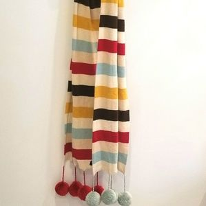 MODA cashmere blend pom pom scarf